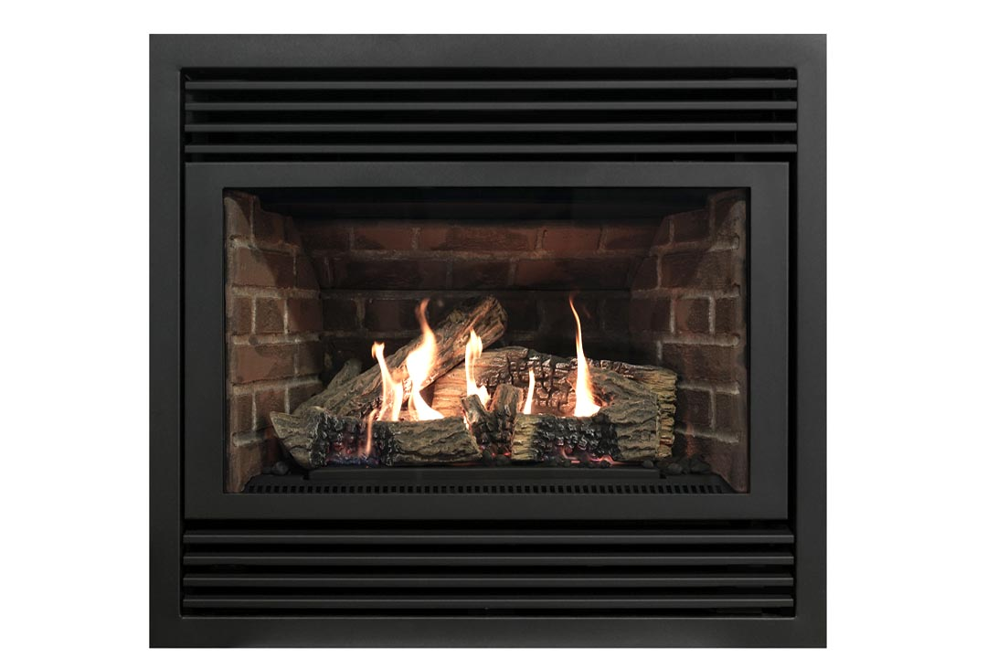 3400 gas fireplace dvt20n red bricks