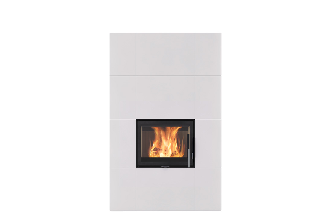 Salzburg xl wood freestanding fireplce white