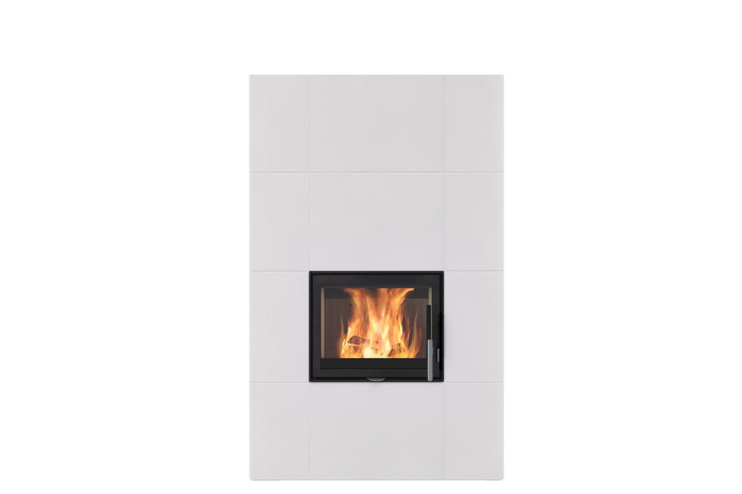 Salzburg xl wood freestanding fireplce white