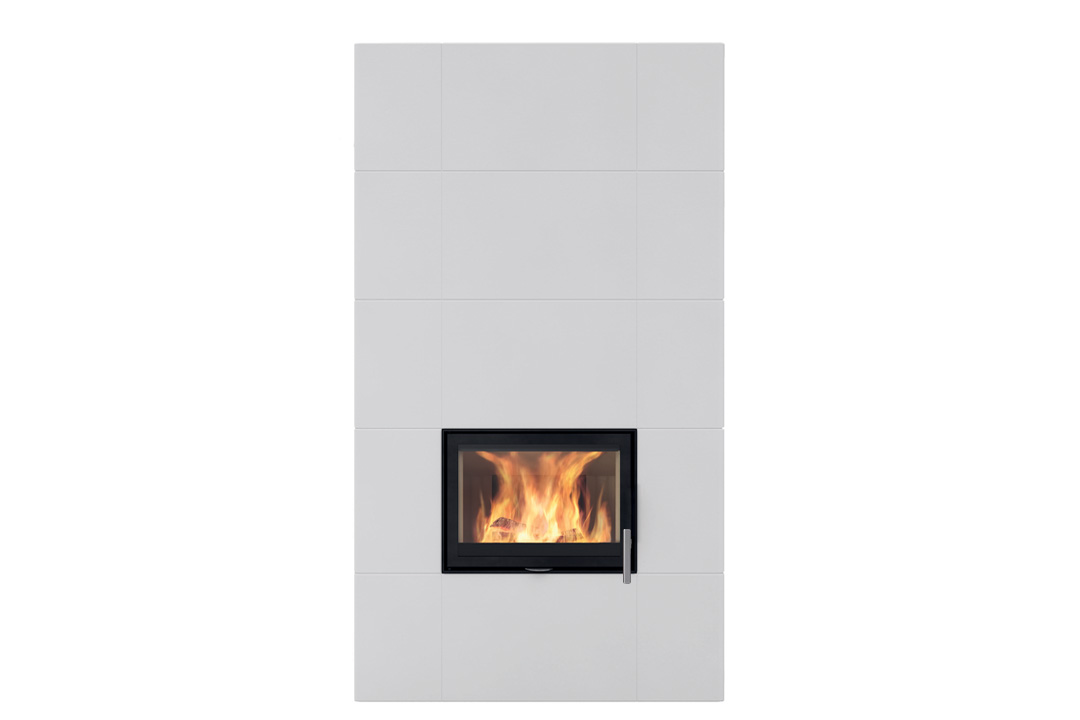 Salzburg xl 1 wood freestanding fireplace white