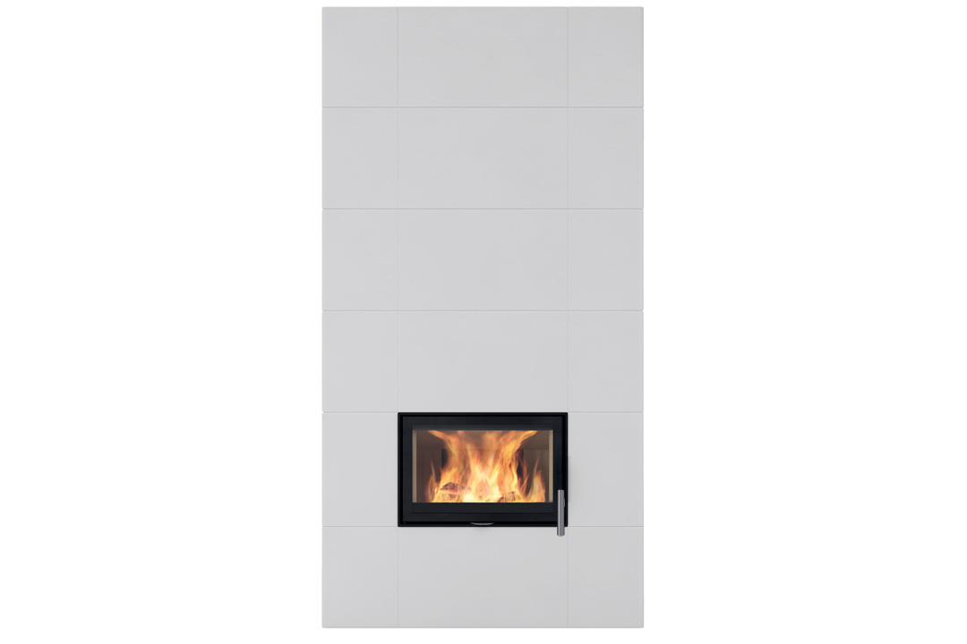Salzburg xl 2 wood freestanding fireplce white