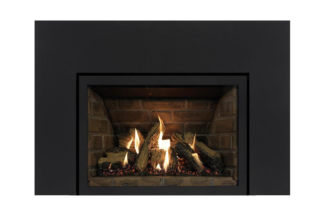 27 gas fireplace insert sklbs red panels