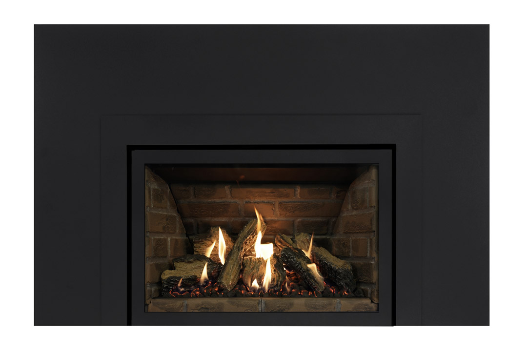 27 gas fireplace insert skhlbs red panels