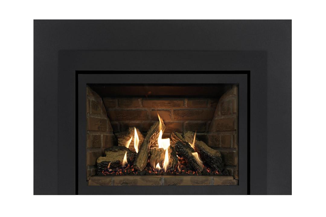 27 gas fireplace insert skhsbs red panels