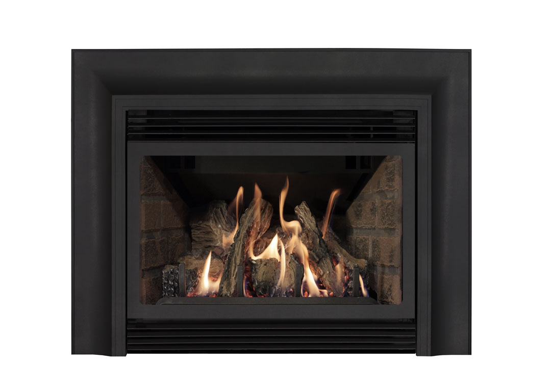 22 gas fireplace insert skcab red brick