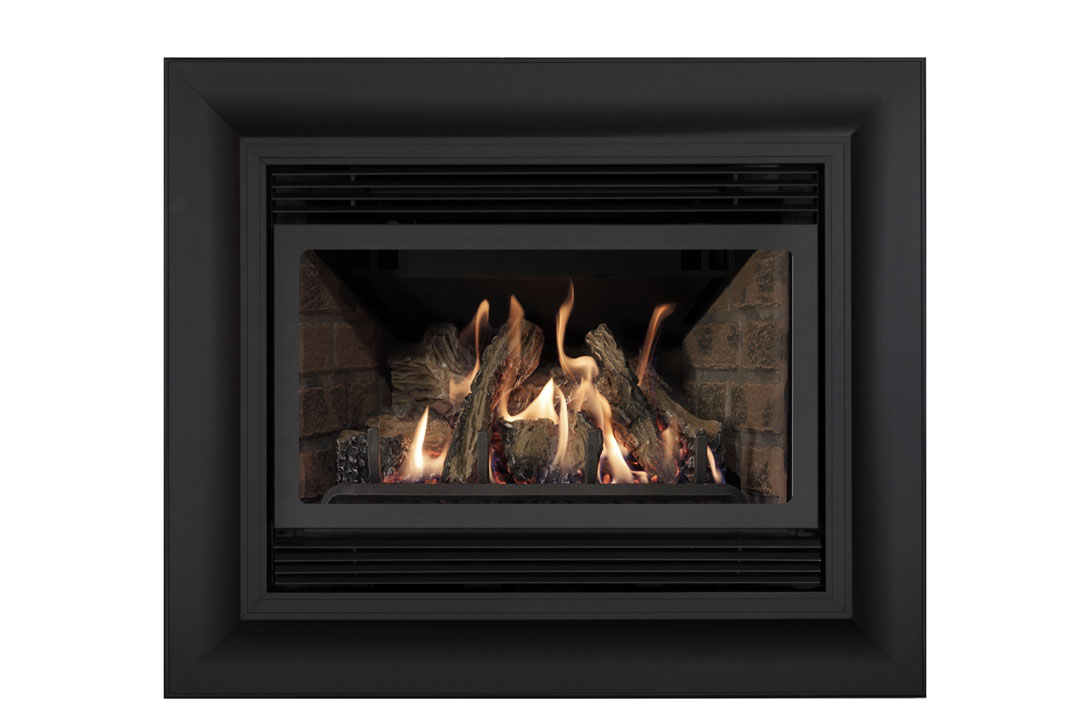 22 gas fireplace insert sk4cab red brick