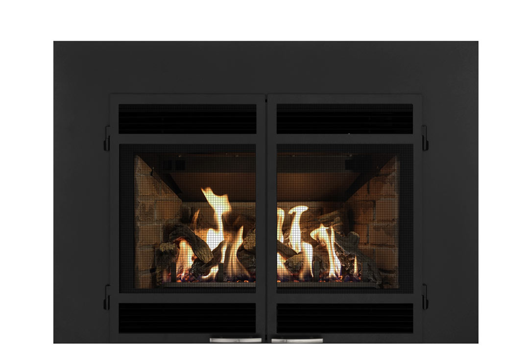 34 gas fireplace insert sdshmb red brick