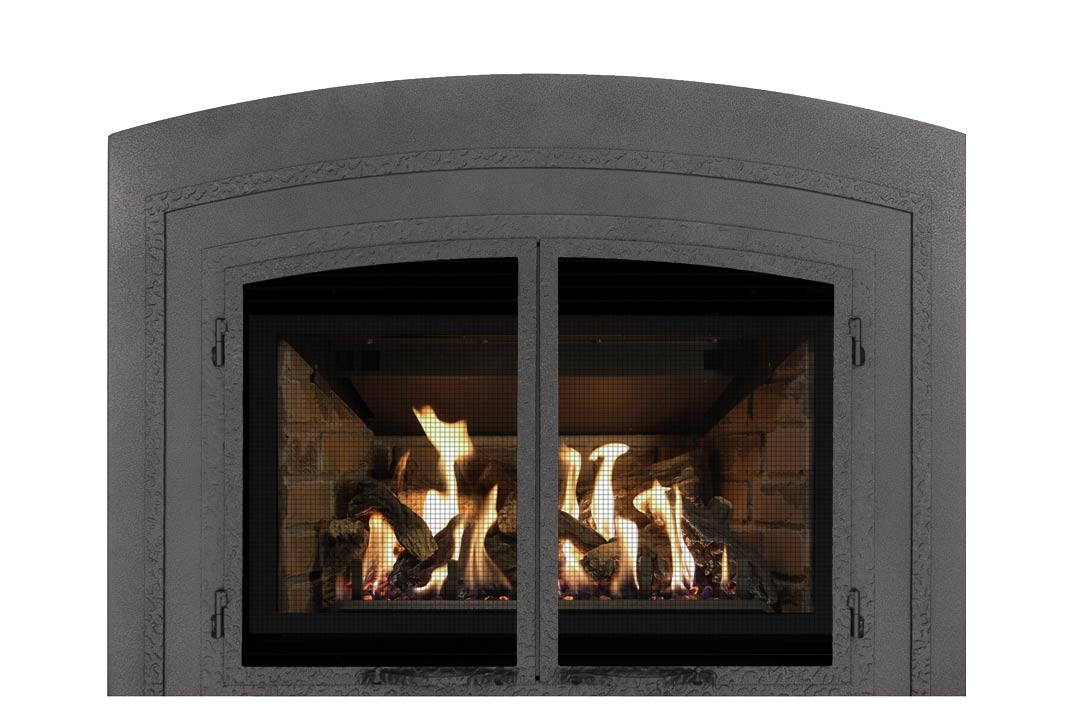 34 gas fireplace insert fifap red brick