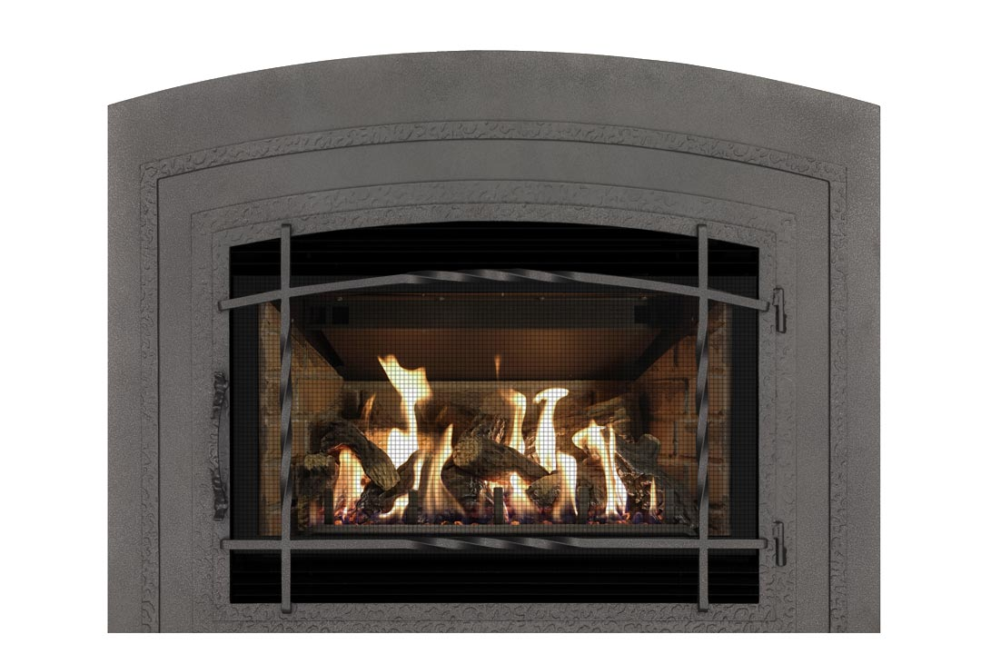 34 gas fireplace insert wifasdp red brick