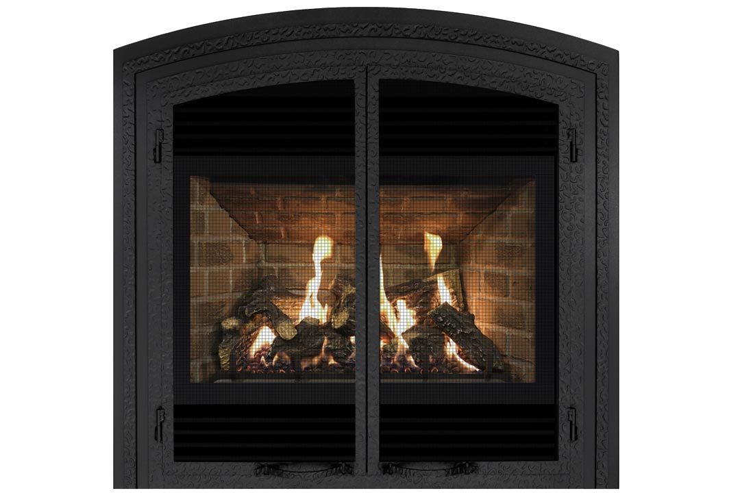 72 gas fireplace fifab red brick