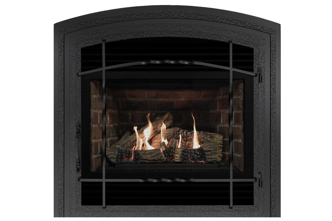 3400 gas fireplace wifasdb red brick